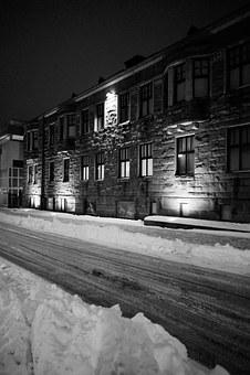 Winter Picture, Stone House, Twilight, Snow