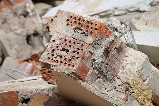 Stone, Crash, Demolition, Disassembly, Site, Broken