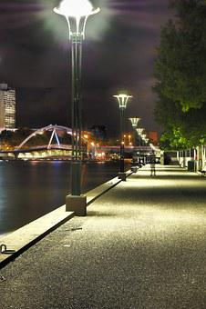 Melbourne, City, Footpath