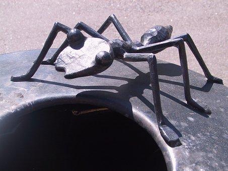 Ant, Artwork, Crap Bucket, Waste Bins, Metal, Iron