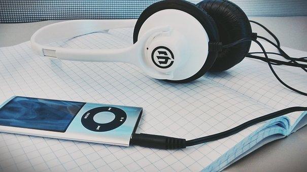 Ipod, Nano, Apple, Headphones, Audio, Click Wheel