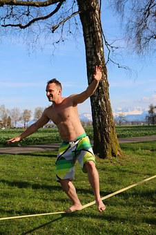 Leisure, Sport, Slackline, Balance, Fun