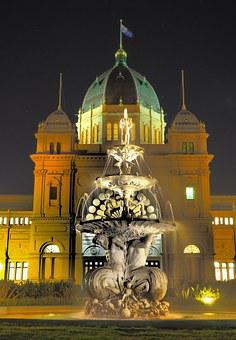 Melbourne, City, Fountain