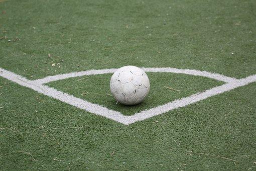 Football, Ball, Playground, Line, Harmony, Balance