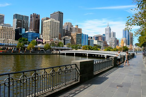 Melbourne, Skyline, River, Australia, City