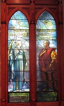 Saint, Cornelius, Angel, Stained, Glass, Windows