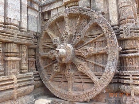 Sun Temple, Konark, India, Wall, Sculpture, Ancient