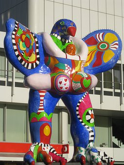 Nana, Niki De Saint Phalle, Fig, Colorful, Sculpture