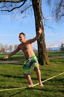 Leisure, Sport, Slackline, Balance, Fun