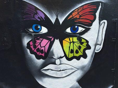 Graffiti, Butterfly, Melbourne, Walls, City Streets