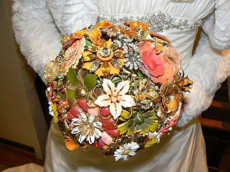 Bouquet, Wedding, Jewellery, Bridal Bouquets