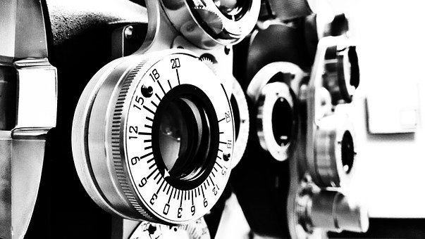 Lens, Optometrist, Black And White, Glass, Glasses