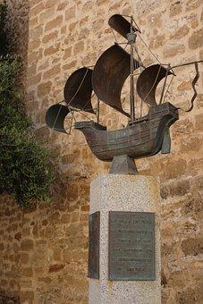 Caravel, Sculpture, Broken, Cadiz