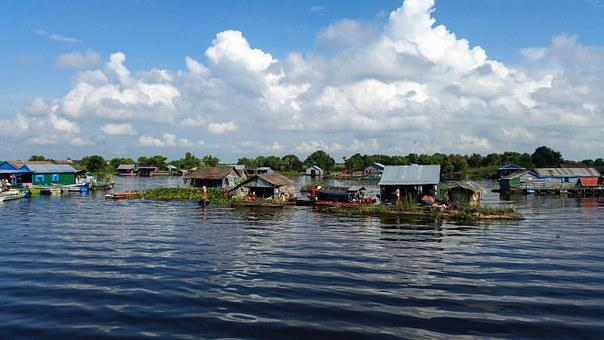 Cambodia, Asia, Boat Trip, According To Battambang