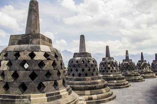 Borobudur, Candi, Stupa, Temple, Java, Indonesia