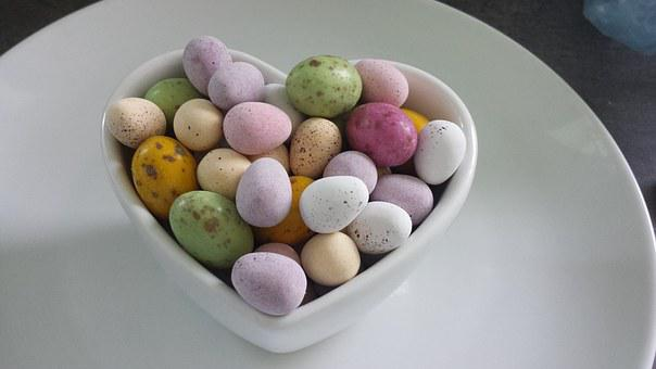Eggs, Candy, Bowl, Easter, Sweets, Decoration