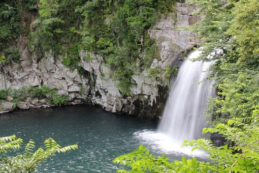 Cheonjiyeon Falls Jeju, Waterfall, Korea, Fall, Water