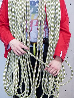 Climbing Rope, Rope, Climb, Climber, Coiled, Ascent