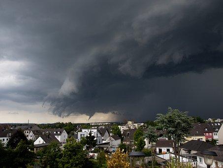 Thunderstorm, Storm, Rain, Clouds, Sky, Thunder