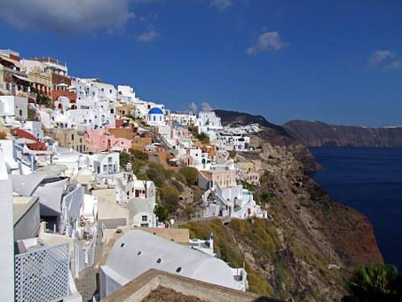 Crater Rim, Homes, Cycladic Style, Santorini, Oia