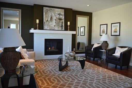 Living Room, Fireplace, Chairs, Furniture, Decor