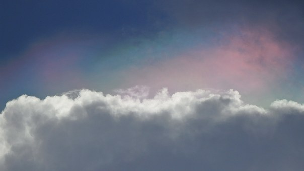 Sky, Clouds, Diffused Rainbow