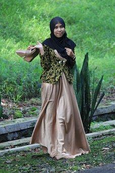 Islamic, Female, Cute, Shoes, Root, Asian, Hijab