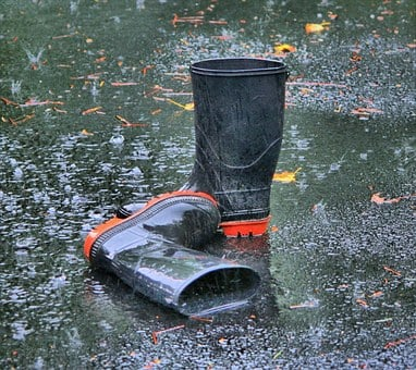 Boots, Rubber, Galoshes, Waders, Footwear, Wet, Rainy