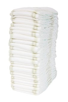Baby, Diaper, Disposable, Isolated, Nappy, Stack