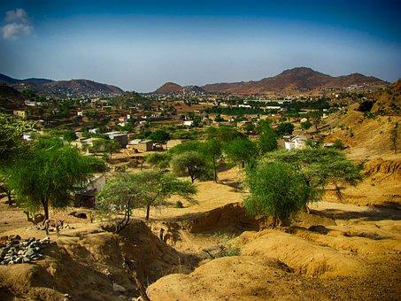 Ghinda, Eritrea, Landscape, Scenic, Desert, Camels
