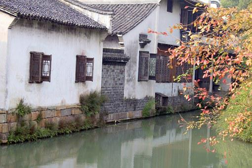 China, Chinese, Outdoor, Green, Old, Landscape, View