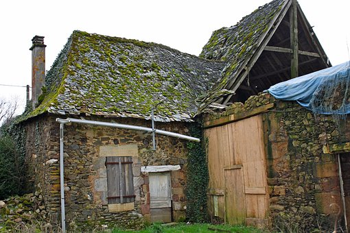 Derelict Building, Derelict Barn, Roof Collapse