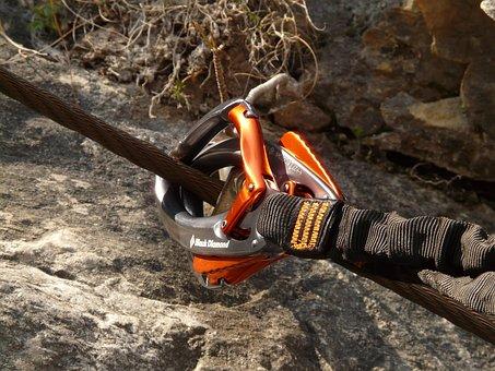 Carbine, Rope, Hook, Backup, Climbing, Via Ferrata