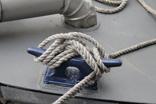 Boat, Rope, Anchor, Ship, Sea, Nautical, Tie, Tie Up