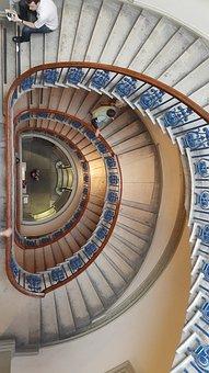 Stairs, Round, Spiral, Gallery, Somerset, England