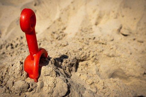 Beach, Sand, Sunlight, Shovel, Toy, Summer, Seaside