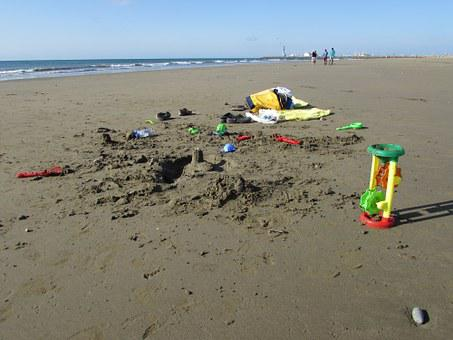 Beach Toys, Sun, Ocean, Vacation, Holiday, Summer