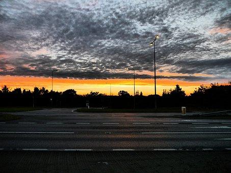 Skies, Sunset, Hopton, Sunset Sky, Dramatic, Dusk