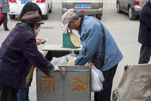 China, Noodles, The Old Man, The Work, Stroller