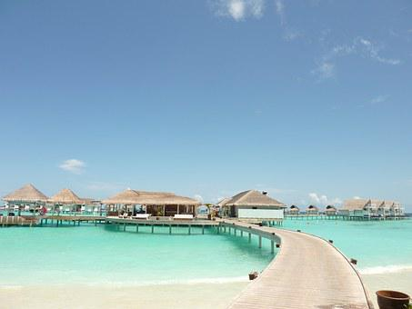 Maldives, Travel, Resort, Island, Hotel On The Water