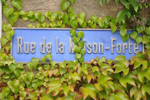 Village, Laconnex, Geneva, Vine, Vines, Sign, Rue