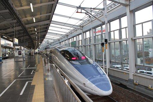 Bullet Train, 500 Series, Jr West, Train, Japan