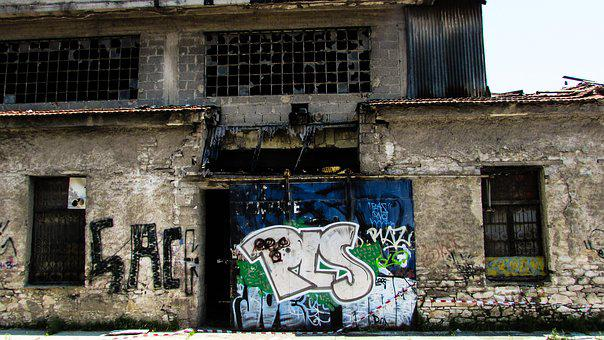 Decay, Old Factory, Abandoned, Graffiti, Grunge