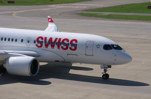 Bombardier Cs100, Swiss Airlines, Aircraft, Airport