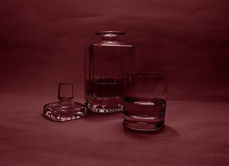 Carafe, Glass, Brandy, Alcohol, Bar, Whisky, Whiskey