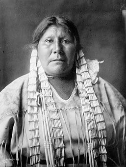 Historical, Vintage, Sioux, Indian, American, Woman