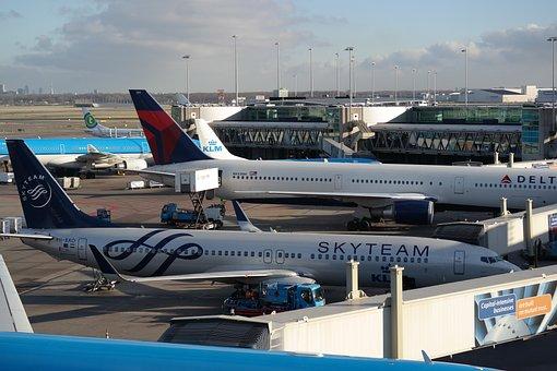 Airport, Amsterdam, Aircraft, Terminal