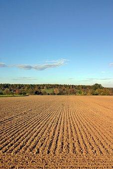 Arable, Ackerfurchen, Ridge, Landscape, Autumn, Sky