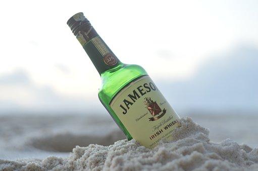 Jameson, Whisky, Beach, Kenya, Partay, Bottle, Sand