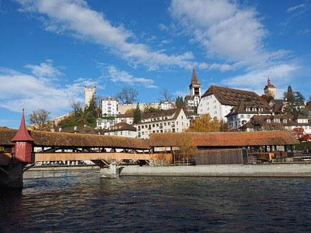 Spreuer Bridge, Bridge, Lucerne, Water